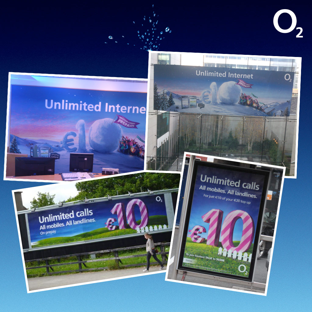 O2 Branded Outdoor Collateral
